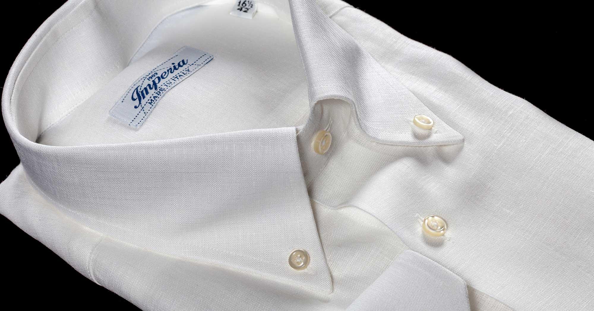 Camicia da uomo in puro lino della Camiceria Smeralda di Camerano Ancona