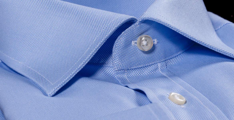 Camicia da uomo azzurra di cotone Camiceria Smeralda Camerano Ancona