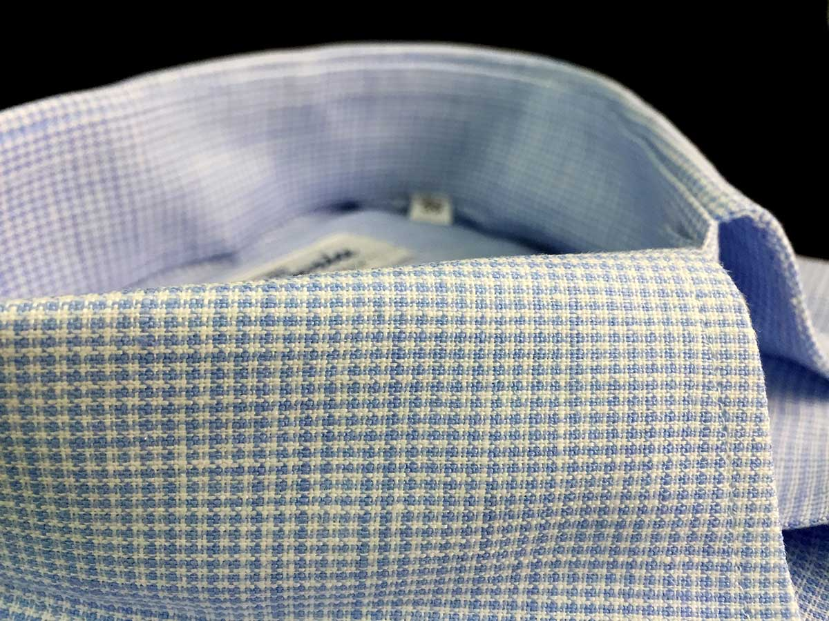 Collo di camicia di lino a quadri da uomo Ancona Camerano