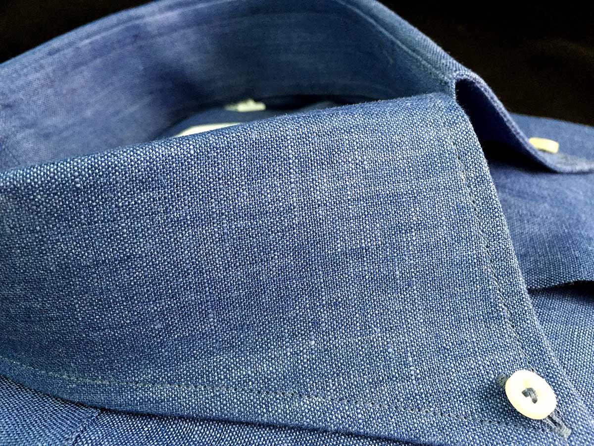 Camicia blu Chambray Smeralda Camerano Ancona news