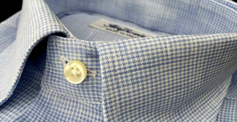 Camicia lino - camicia uomo quadri Ancona Camerano Smeralda