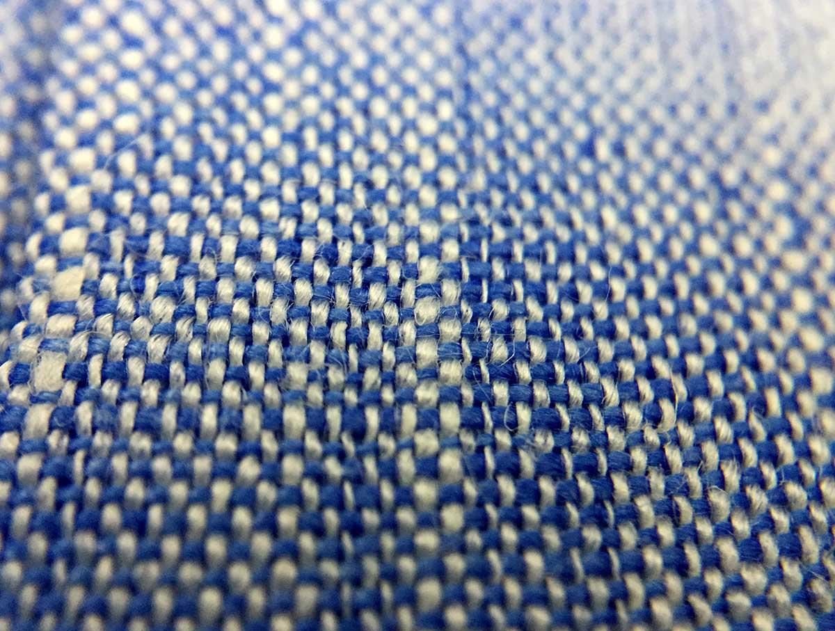Trama camicia uomo lino Smeralda Ancona