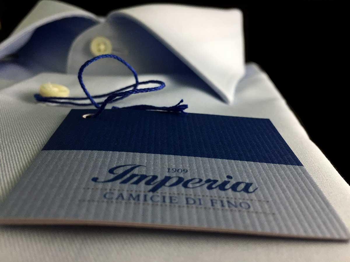 Camicia azzurra no stiro Ancona Camerano Marche
