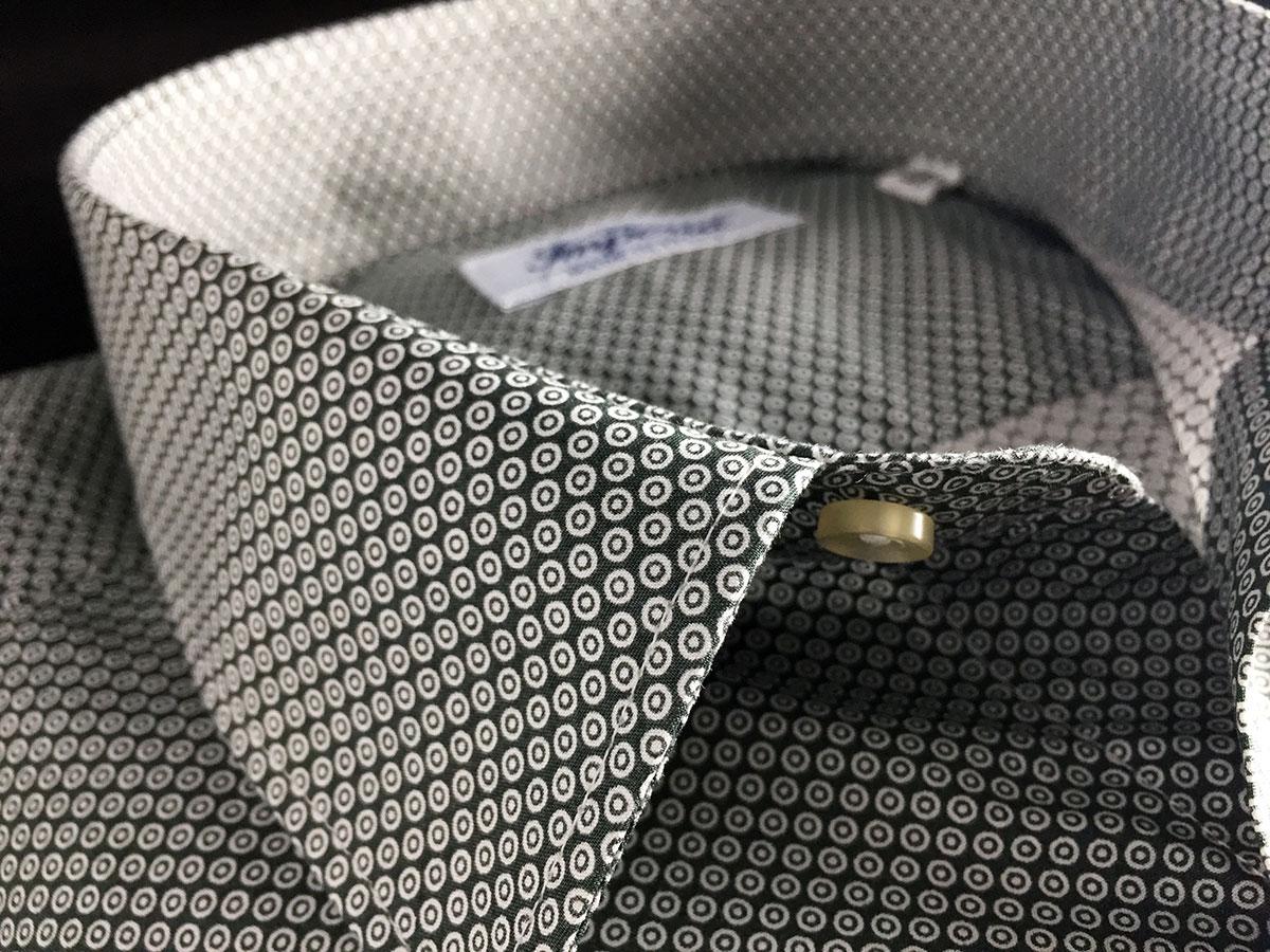 camicia fantasia bianca e nera di cotone a Camerano