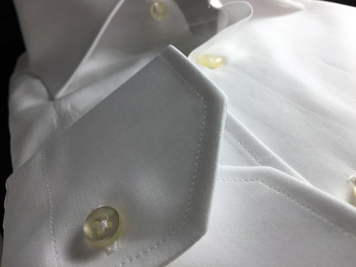 camicia bianca di cotone da uomo