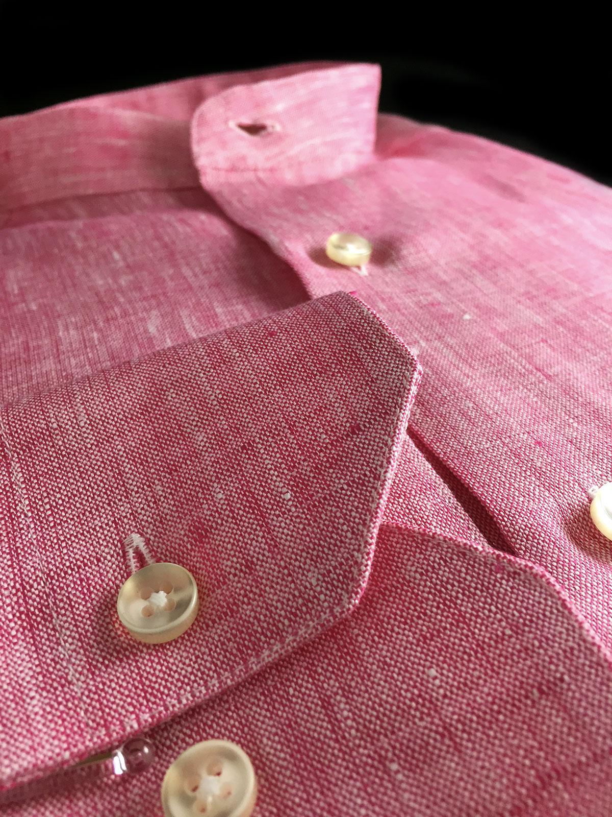 camicia da uomo lino rosa