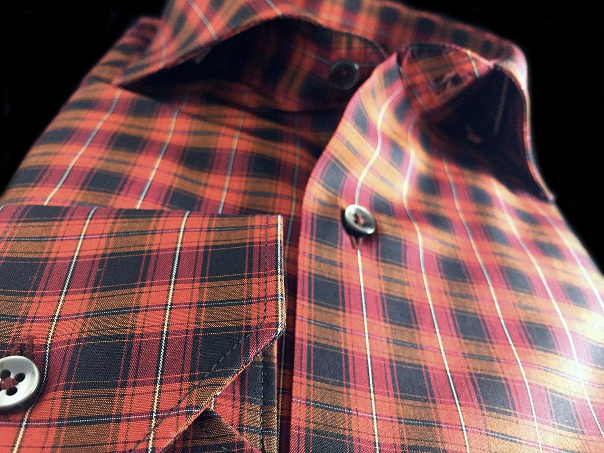 camicia da uomo a quadretti Ancona Camerano