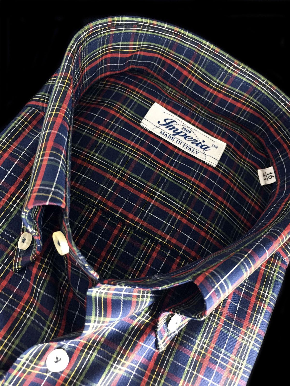 camicia uomo di cotone a quadri Ancona