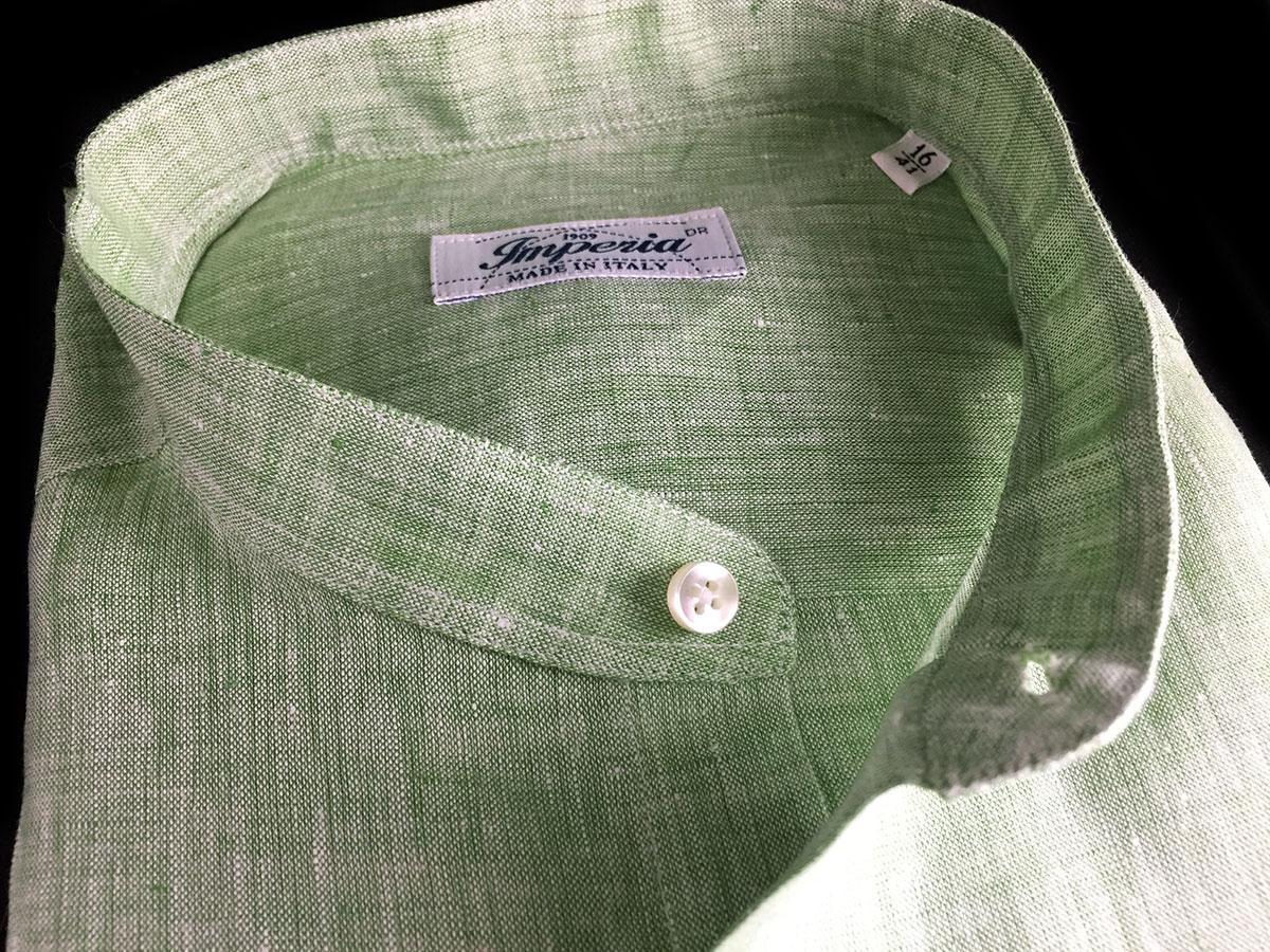 camicia verde da uomo di lino a Camerano