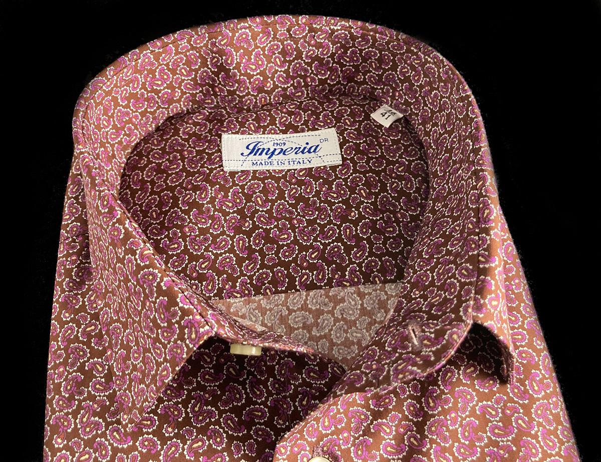 Camicia da uomo cotone con raffinata fantasia a Camerano Ancona