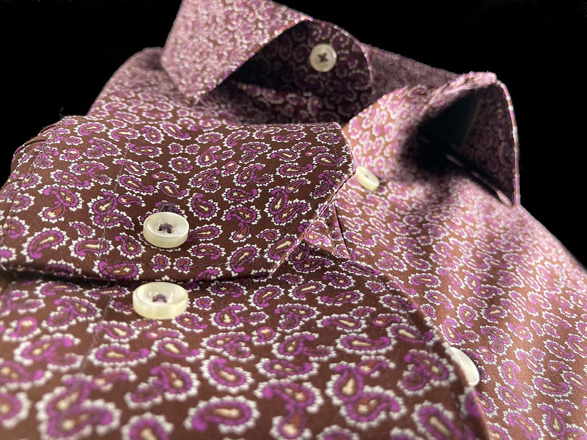 Camicia da uomo cotone con elegante fantasia Ancona