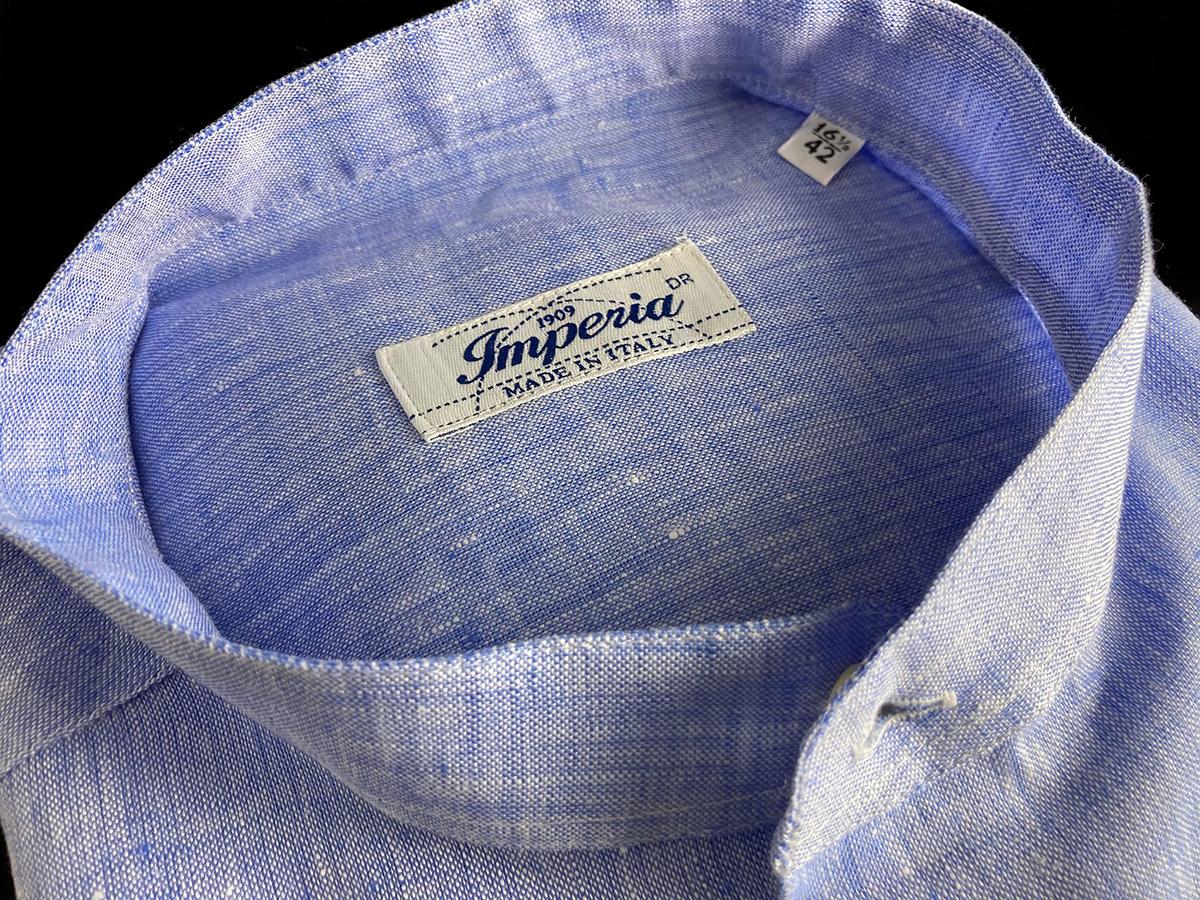 Camicia di lino azzurra Ancona