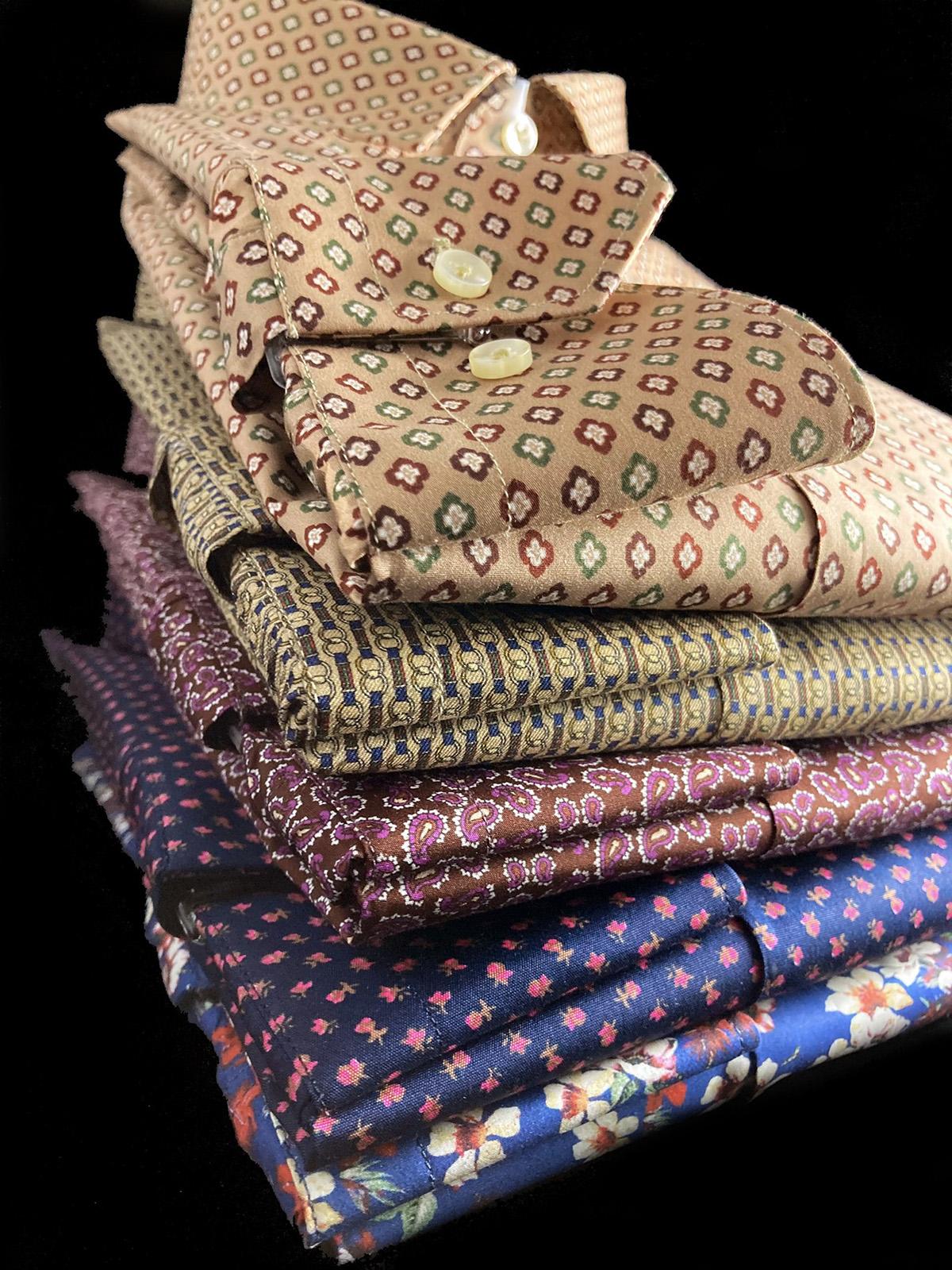 Camicie di cotone da uomo a fantasia Ancona